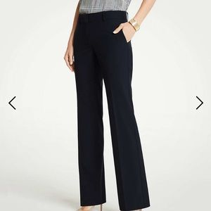 Ann Taylor The Trouser Pant Perfect Navy 8Tall NWT